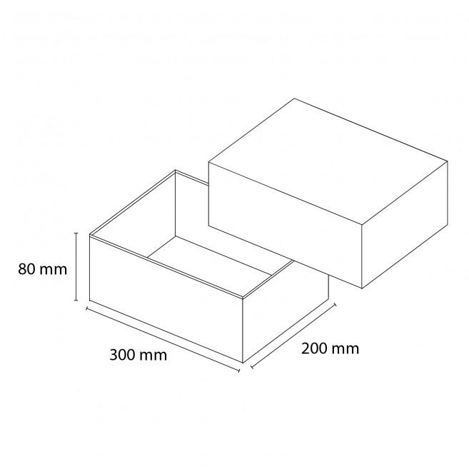 Kasse med låg - medium