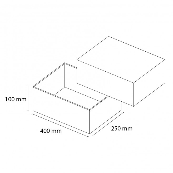Kasse med låg - large